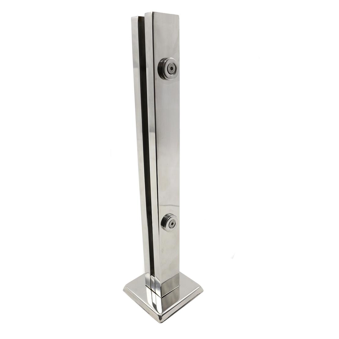Coluna Torre 40 Cm - 2 Furos - Polida - Aço Inox 304 - v.10