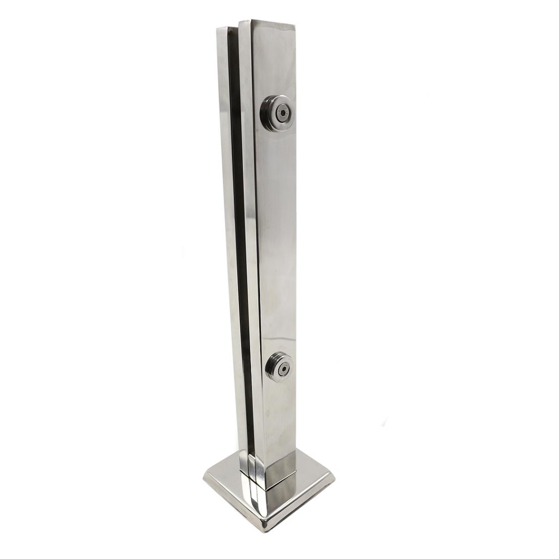 Coluna Torre de Inox 304 - Polida - 30 cm - 2 Furos