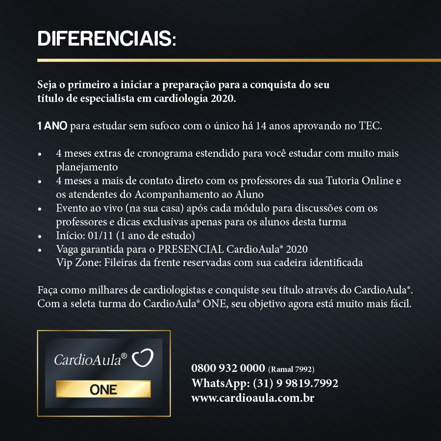 CardioAula® ONE - Preparatório TEC 2020