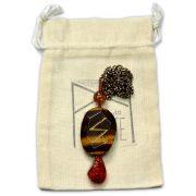 Amuleto Rúnico Poder Pessoal Olho de Tigre - Tiwaz e Sowilo mod. 2