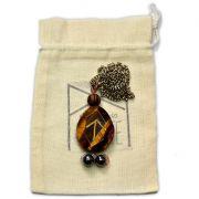 Amuleto Rúnico Poder Pessoal Olho de Tigre - Tiwaz e Sowilo mod. 3