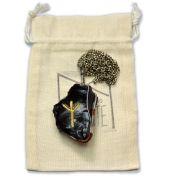 Amuleto Rúnico Proteção Obsidiana Negra Bruta - Algiz mod. 2