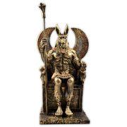 Anúbis no trono, Senhor dos Ocidentais e Deus do Submundo - Dourado