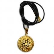 Aromatizador Pessoal Mandala - Dourado com Cordão