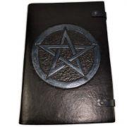 Book Of Shadows em Couro e Papel Pergaminho - 32x22cm 200fls (Modelo 6)