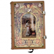 Book Of Shadows Encadernação Medieval 400pg. sem pauta - Feiticeira