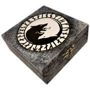 Caixa Forrada - Lobo com Runas (1)