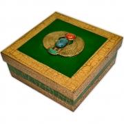 Caixa Egípcia Média - Escaravelho Verde