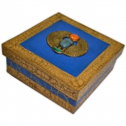 Caixa Egípcia Média - Escaravelho Azul