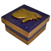 Caixa Egípcia Pequena - Olho de Hórus Azul