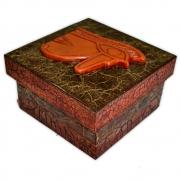 Caixa Egípcia Pequena - Olho de Hórus Vermelho