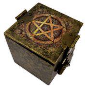Caixa de Espelhos - Pentagrama Dourado
