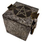 Caixa Epelhada - Pentagrama Prateado (2)