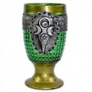 Cálice Medieval - Deusa Verde e Dourado