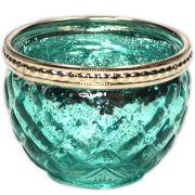 Castiçal de Vidro - Azul