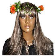 Circlet Estrela Verde com Flores Laranja