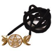 Circlet - Triluna e Pentagrama Dourado