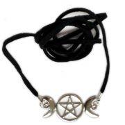 Circlet - Triluna e Pentagrama Prateado