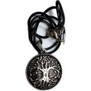 Colar Banhado a Prata - Árvore da Vida