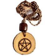 Colar de madeira - Pentagrama