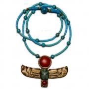 Talismã Colar Egípcio Escaravelho Alado - de Resina mod. 1
