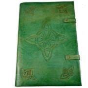 Book Of Shadows em Couro e Papel Pergaminho 200fls - Modelo 4