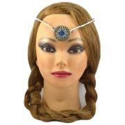 Coroa Mandala Azul