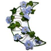 Crescente Lunar - Flores Azuis