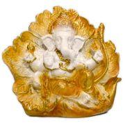 Ganesha Deus da Prosperidade na Flor de Lótus