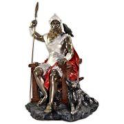 Odin no trono, Deus da Guerra e Senhor dos Mortos - colorido