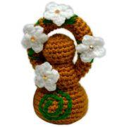 Deusinha de Crochê - Amarelo Envelhecido