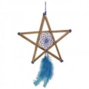 Filtro dos Sonhos Pentagrama - azul