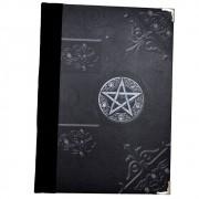 Grimório 300pg. (sem pautas, pequeno) - Pentagrama Preto