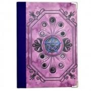 Grimório 300pg. (sem pautas, pequeno) - Pentagrama Rosa