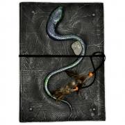 Grimório 96pg com pauta grande - Serpente