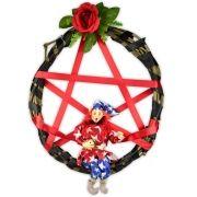 Guirlanda Pentagrama Gnomo - Vermelho
