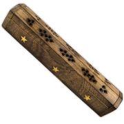 Incensário caneleta de madeira