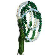 Japamala 108 contas  - Opalina, Malaquita e Quartzo Verde