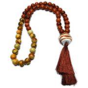 Japamala 54 contas - Pedra do Sol e Jaspe Marrom