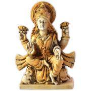 Lakshmi sentada na Flor de Lótus
