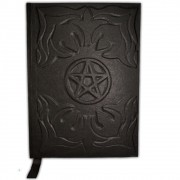Livro das Sombras de Capa Preta G - Pentagrama Modelo 1