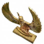 Maat, Deusa da Justiça e da Harmonia Cósmica - Dourada