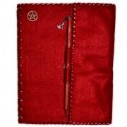 Grimório Mini Vermelho - 96pg com pauta