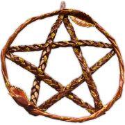 Pentagrama de Porta - Marrom