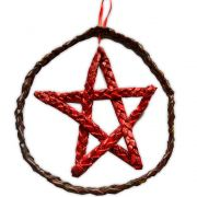 Móbile Pentagrama - Vermelho