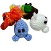 4 Elementos da Natureza de Crochê - Terra, Ar, Fogo e Água
