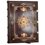 Book Of Shadows Encadernação Medieval GRANDE 400pg. sem pauta - Pentagrama