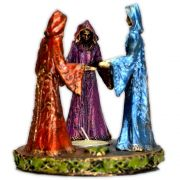 Castiçal Círculo Deusa Tríplice - Colorido