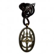Talismã Colar Trishula, Tridente de Shiva - com Cordão
