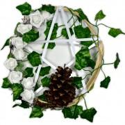 Guirlanda Pentagrama de Bambu - Branco